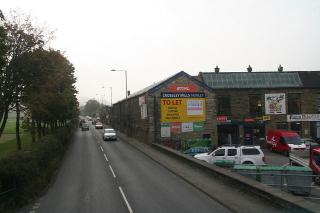 Crossley Mills by the A616, Honley