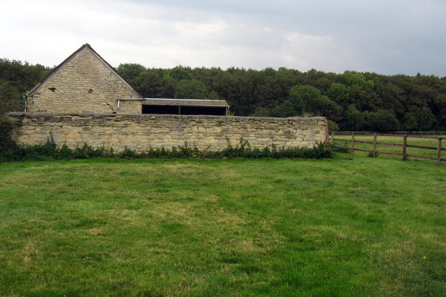 Old farm buildings by Yardley Chase