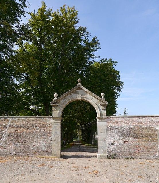 Walled garden entrance, Belladrum