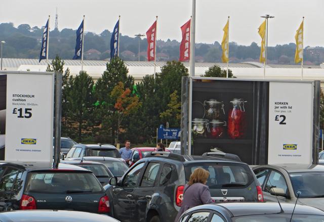 Ikea car park, Gateshead