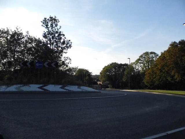 New roundabout on Bookhurst Road, Cranleigh
