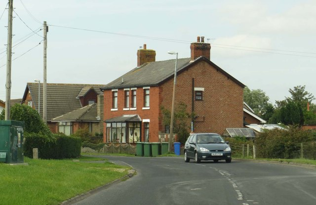 Lancaster Road in Preesall