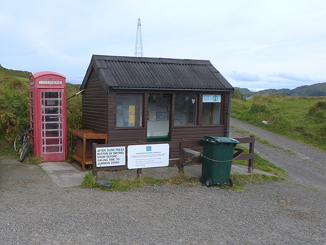 Ferry waiting room at South Cuan