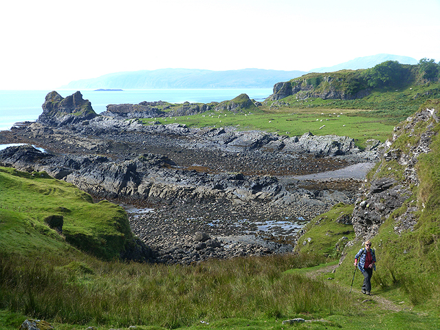 Rocky coastline at the south end of the Isle of Kerrera