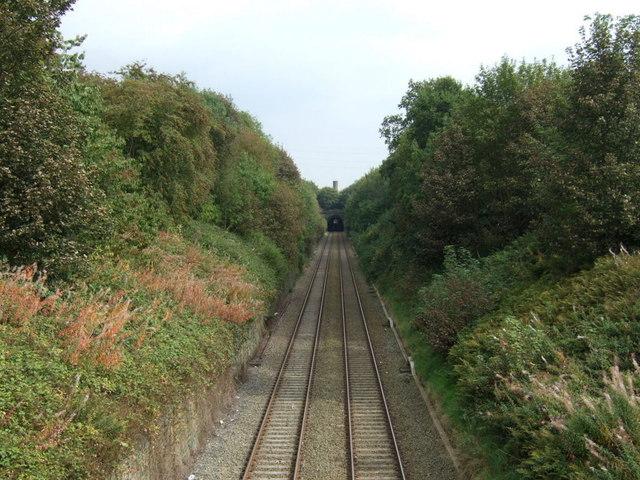 Railway heading east