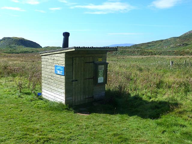 Compost toilet near Lower Gylen