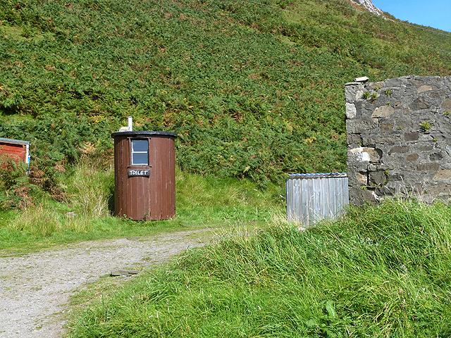 Toilet at Lower Gylen Tearoom