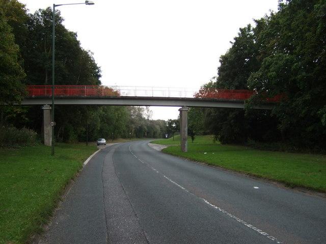 Footbridge over Whitelodge Road