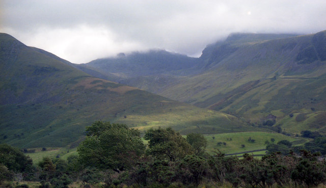 Slopes of Lingmell from the road