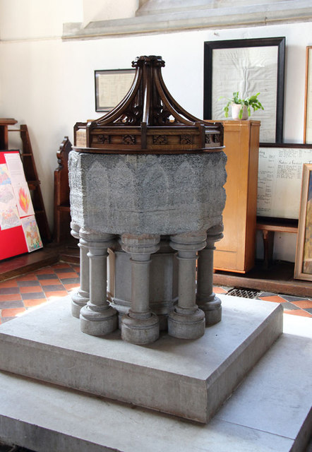 All Saints, Terling - Font