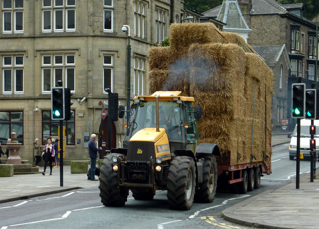 Heavy load in Buxton, Derbyshire