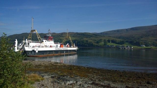 CalMac ferry at Rhubodach