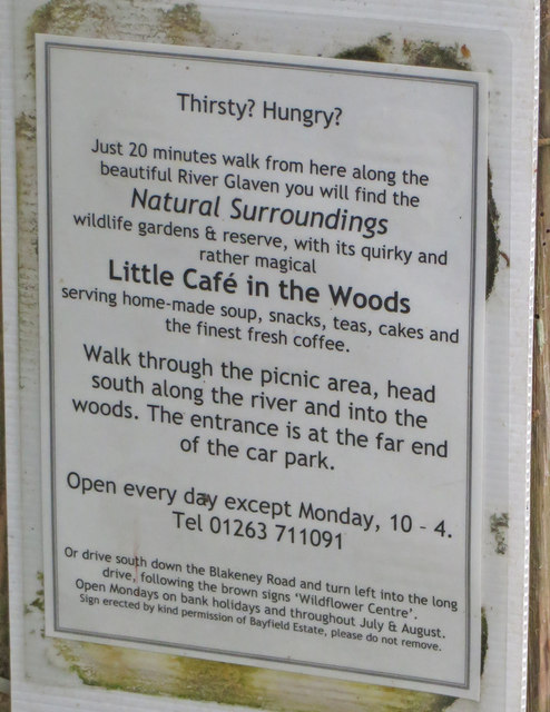 Sign for The Little Café in the Woods