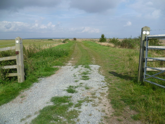 Track onto St Mary's Marshes
