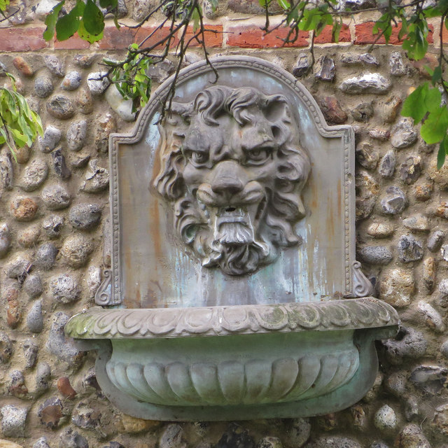 Grim looking fountain, Glandford