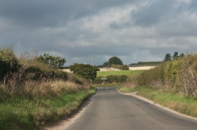 T junction west of Warham