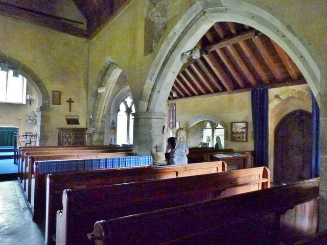 South aisle of Cocking church, West Sussex