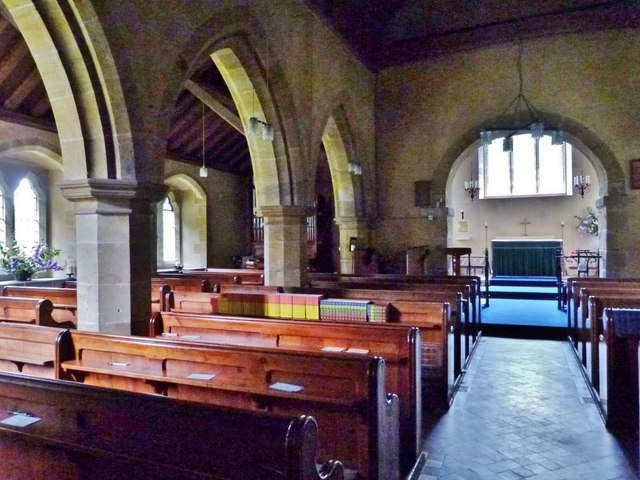 North aisle of Cocking parish church, West Sussex