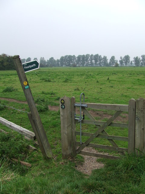 Gate And Footpath Sign
