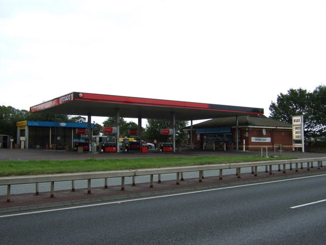 Service station on the East Lancashire Road (A580)