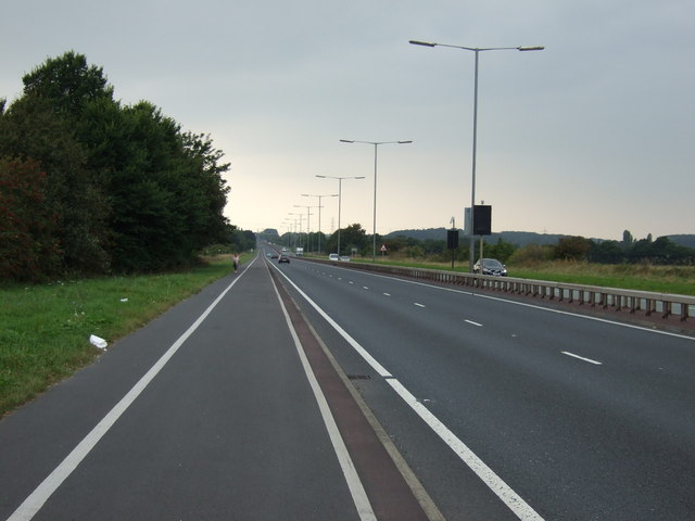 Cycle track beside the East Lancashire Road (A580)