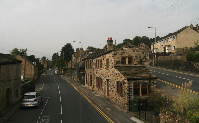 A6024 Woodhead Road at Upper bridge next to the junction with the A635
