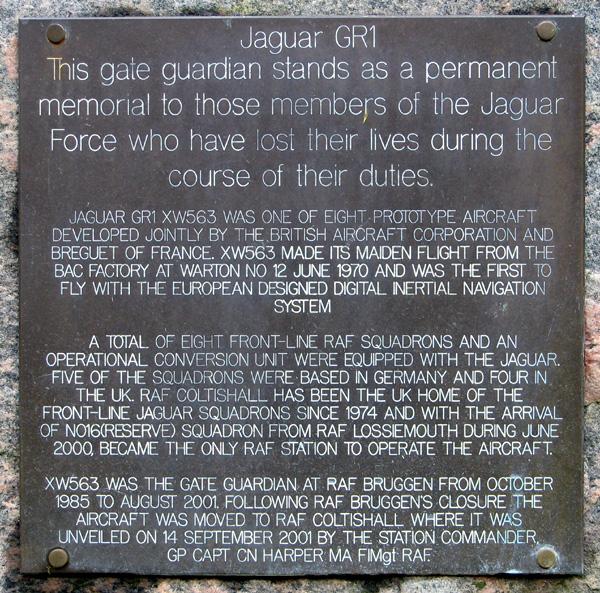 The Spirit of Coltishall - plaque