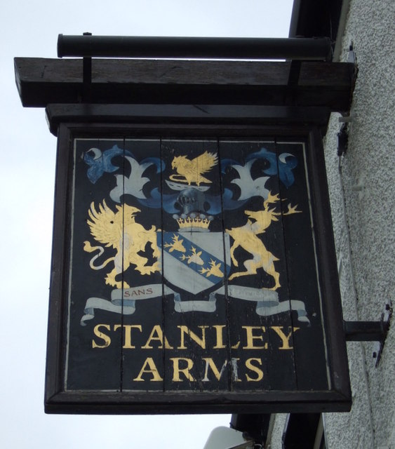 Sign for the Stanley Arms pub