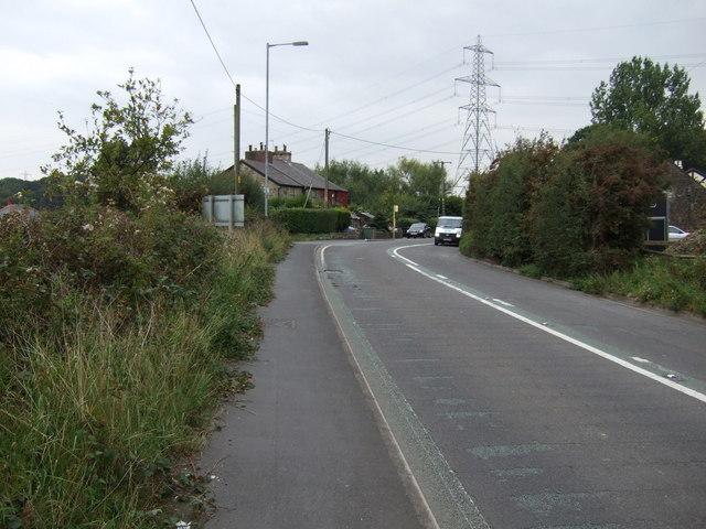 A bend in Burrows Lane (B5201)