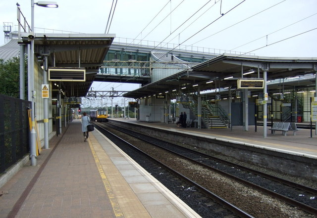 Platform 1, Liverpool South Parkway Railway Station