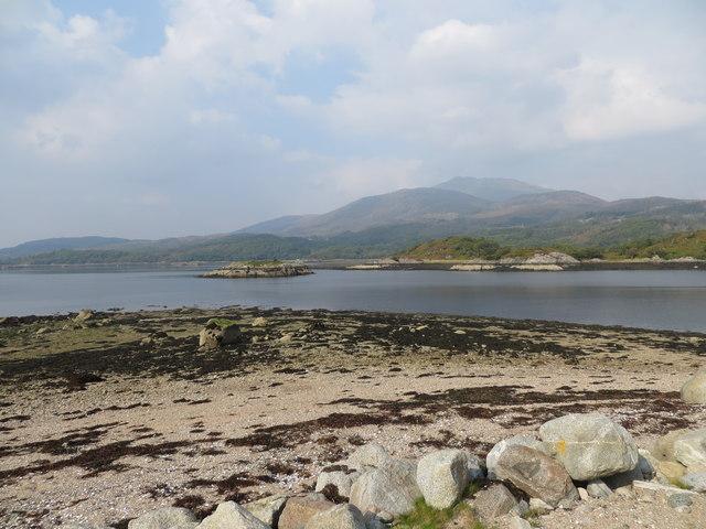 Glas Eileanin Loch Sunart from Rubha nan Clach