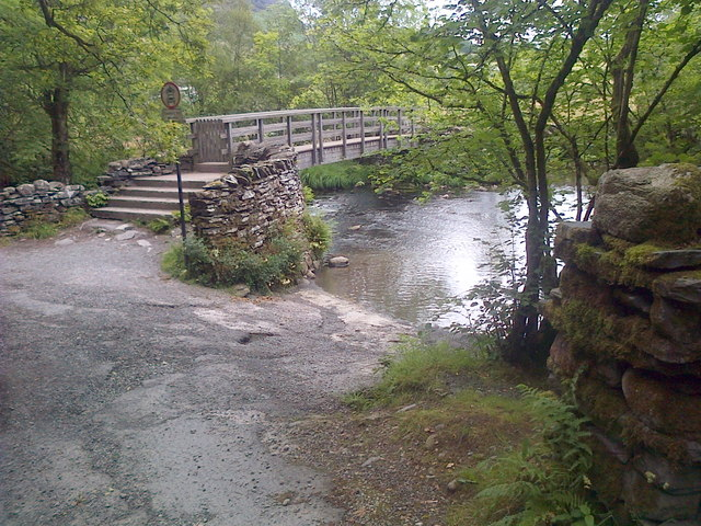 Ford and Footbridge, River Brathay