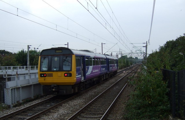 Northern Rail train heading towards Liverpool Lime Street