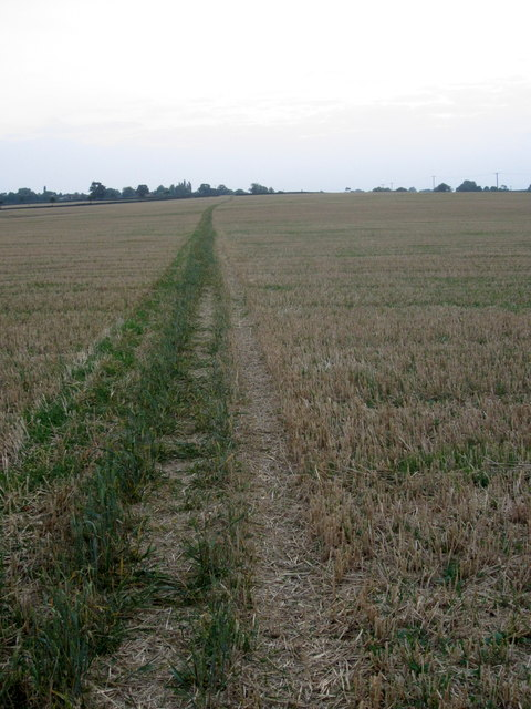 Path across the fields to Denton
