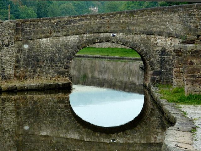 Bridge in Bugsworth Basin near Whaley Bridge, Derbyshire