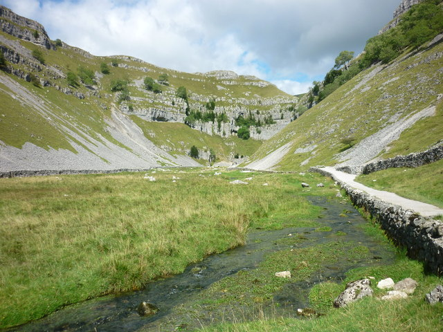 The springs at Gordale Scar