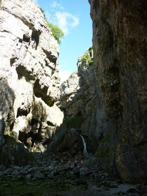 The waterfalls at Gordale Scar