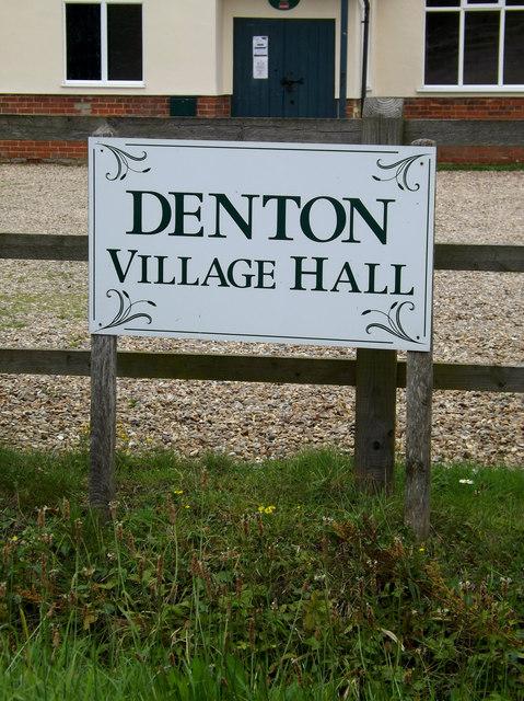 Denton Village Hall sign