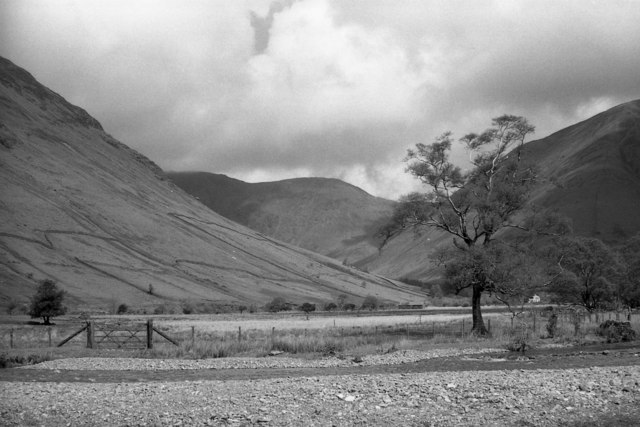 Lingmell Beck from the campsite