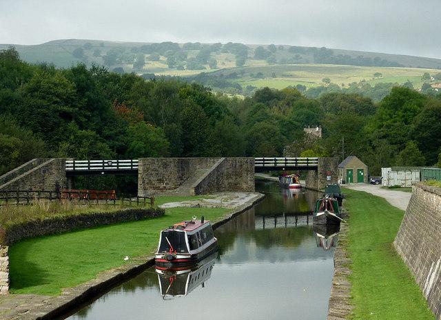 The Lower Basin at Bugsworth near Whaley Bridge, Derbyshire