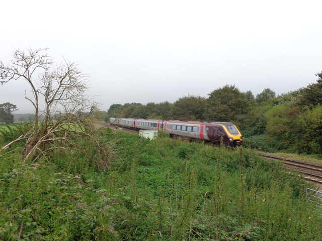 Cardiff to Taunton local service at Chelvey Road bridge