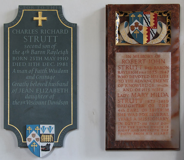 All Saints, Terling - Wall monuments