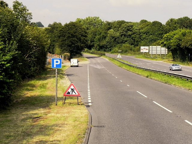 Layby on the A31 near Chilcomb