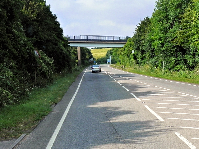 South Downs Way Footbridge Crossing The A31 at Highcliffe