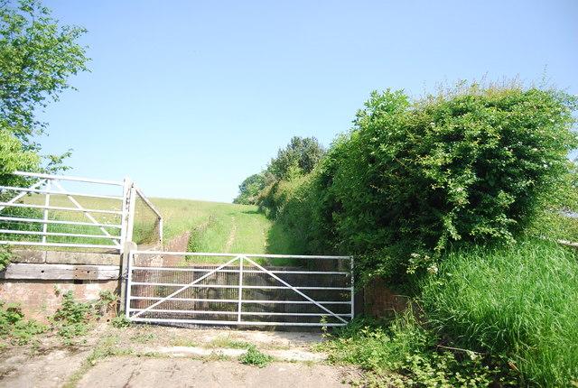 Gate off Cornford Lane