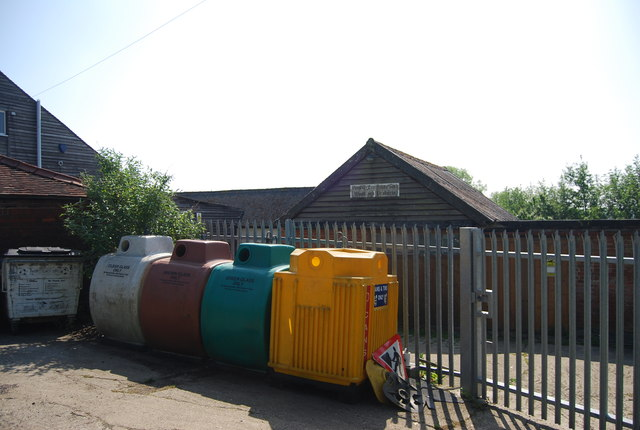 Recycling at Pepenbury