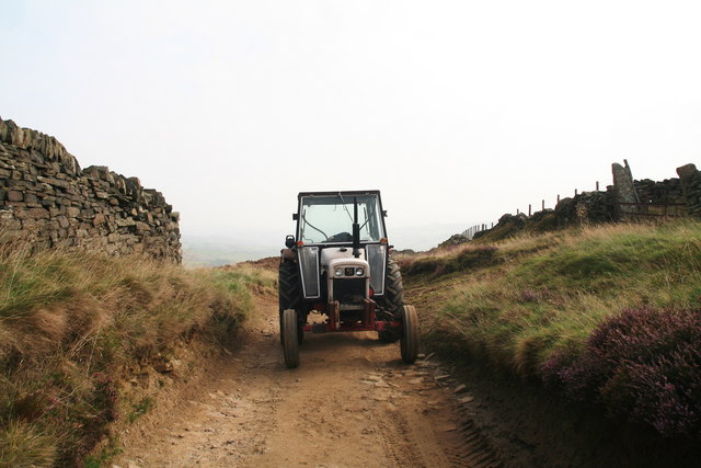 Local tractors for local people...David Brown tractor on Issues Road