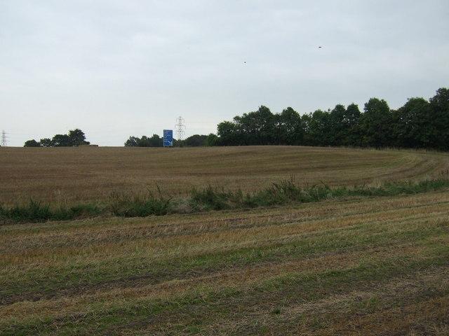 Farmland towards the M62