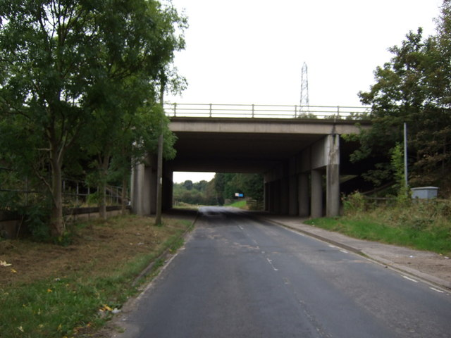 M62 motorway bridge