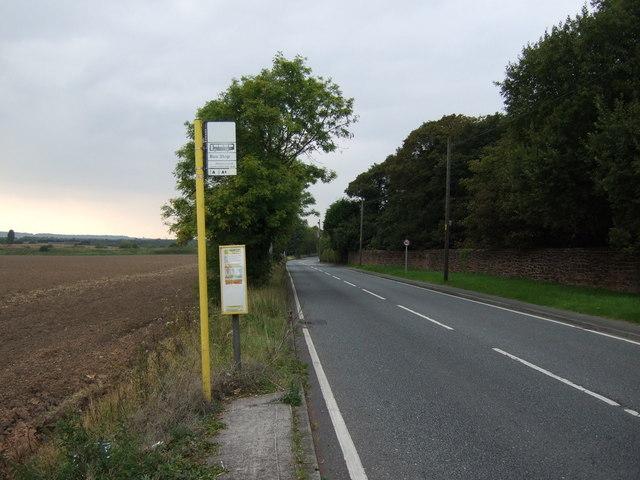 Bus stop on Cronton Road